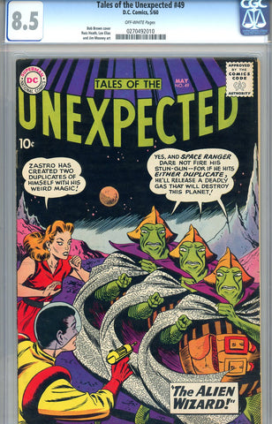 Tales of the Unexpected #49  CGC graded 8.5 - SOLD!