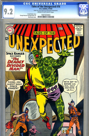 Tales of the Unexpected #76   CGC graded 9.2 pedigree SOLD!