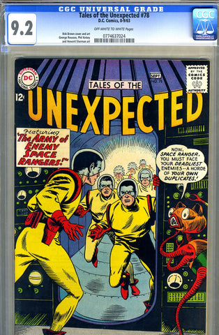 Tales of the Unexpected #78   CGC graded 9.2 - SOLD!