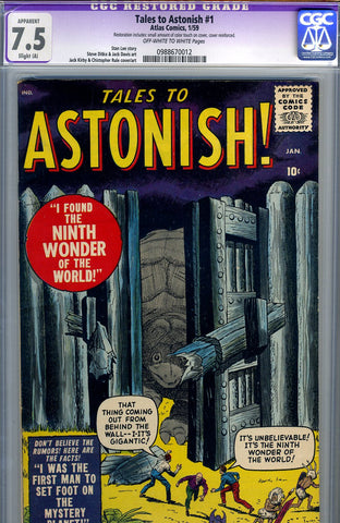 Tales to Astonish #1   CGC graded 7.5 - SOLD