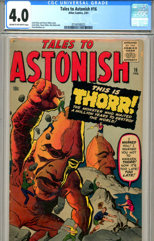 Tales to Astonish #16 CGC graded 4.0 (1961) SOLD!