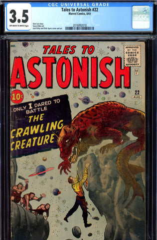 Tales to Astonish #22 CGC graded 3.5 pre-Super-Hero
