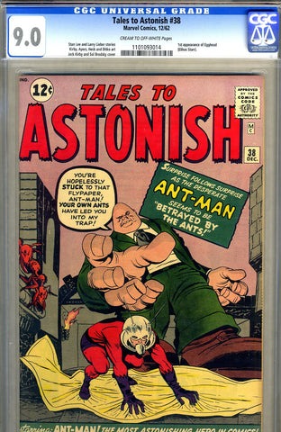 Tales to Astonish #38   CGC graded 9.0 - SOLD