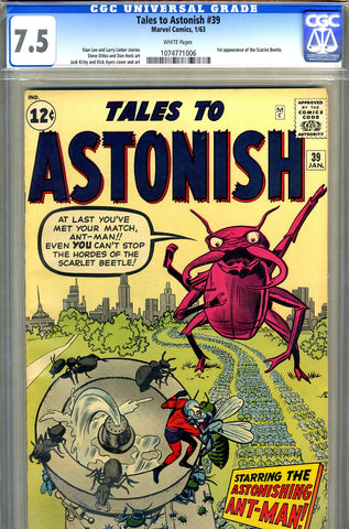 Tales to Astonish #39   CGC graded 7.5 - white pages - SOLD!