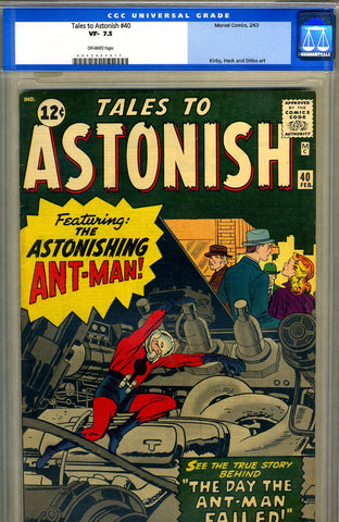 Tales to Astonish #40   CGC graded 7.5 - SOLD