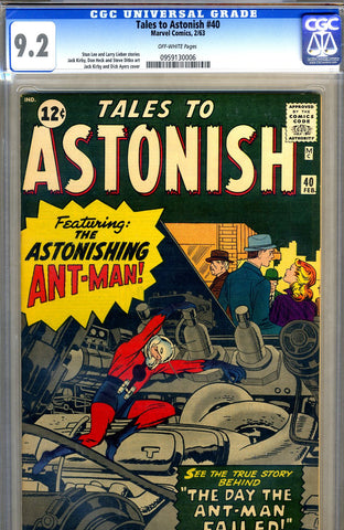 Tales to Astonish #40   CGC graded 9.2 - SOLD