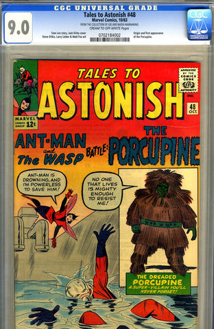 Tales to Astonish #48   CGC graded 9.0 - SOLD!