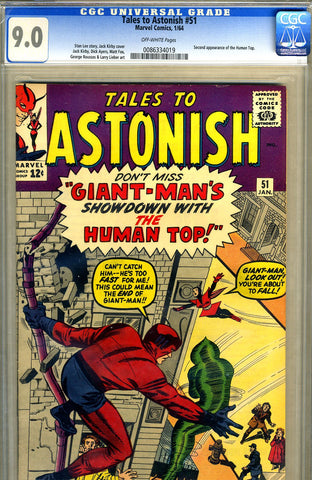 Tales to Astonish #51   CGC graded 9.0 - SOLD