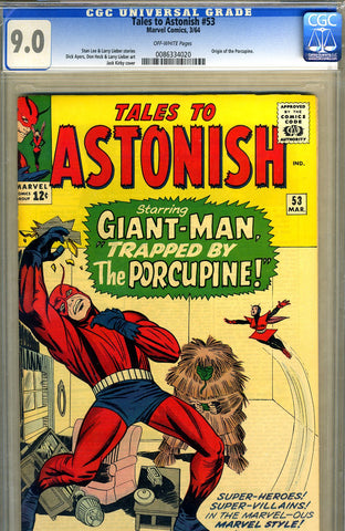 Tales to Astonish #53   CGC graded 9.0 - SOLD
