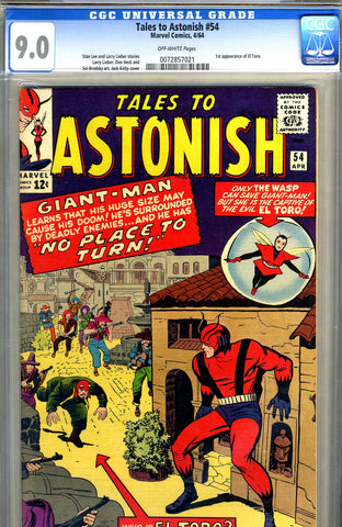 Tales to Astonish #54   CGC graded 9.0 - SOLD