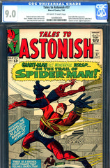 Tales to Astonish #57 CGC graded 9.0  early Spider-man crossover