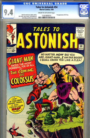 Tales to Astonish #58   CGC graded 9.4 - SOLD