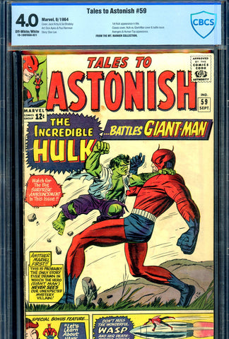 Tales to Astonish #59 CBCS graded 4.0 1st Hulk app in title - SOLD!