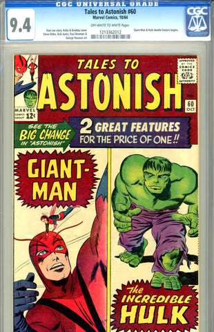 Tales to Astonish #60   CGC graded 9.4 double feature begins SOLD!