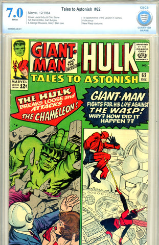Tales to Astonish #62 CBCS graded 7.0 first Leader (cameo) WP SOLD!