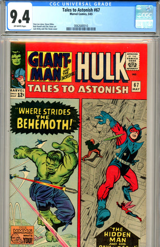 Tales to Astonish #67 CGC graded 9.4