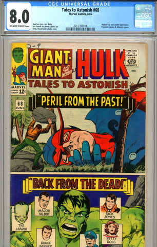 Tales to Astonish #68 CGC graded 8.0 - SOLD!