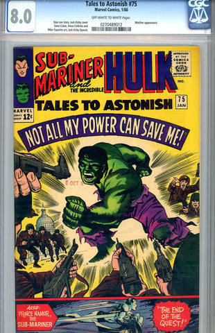 Tales to Astonish #75  CGC graded 8.0 - SOLD!