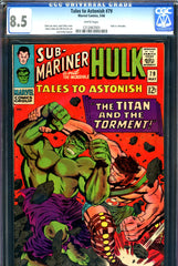 Tales to Astonish #79 CGC graded 8.5 Hulk vs Hercules