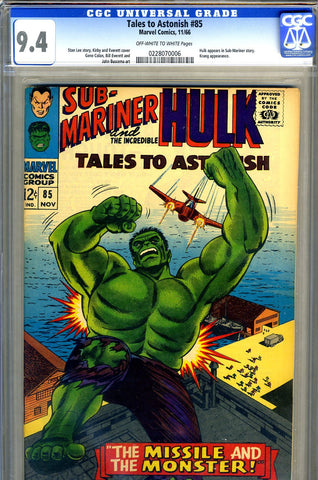 Tales to Astonish #85   CGC graded 9.4 - SOLD!