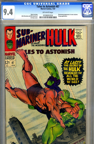 Tales to Astonish #87   CGC graded 9.4 -  SOLD