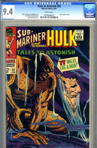 Tales to Astonish #92   CGC graded 9.4 - SOLD