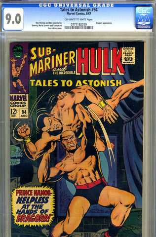 Tales to Astonish #94   CGC graded 9.0 - SOLD
