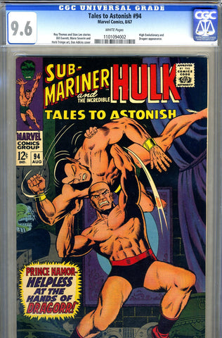 Tales to Astonish #94   CGC graded 9.6 - SOLD!