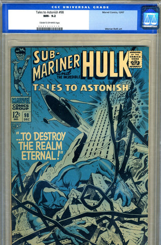 Tales to Astonish #98   CGC graded 9.2 - SOLD