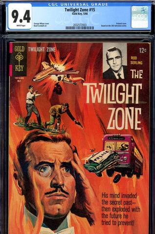 Twilight Zone #15 CGC graded 9.4 white pages SOLD!