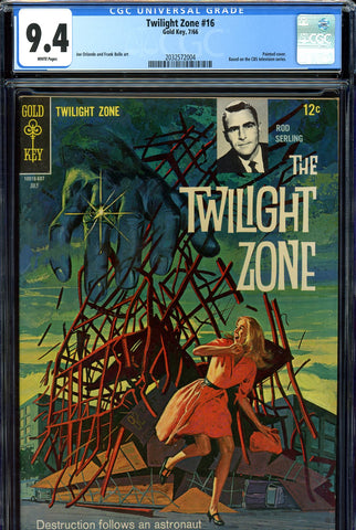 Twilight Zone #16 CGC graded 9.4 white pages SOLD!