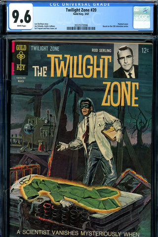 Twilight Zone #20 CGC graded 9.6 white pages SOLD!