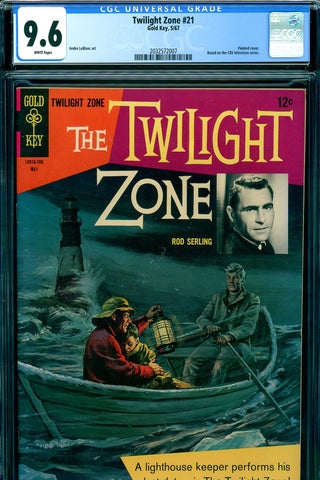 Twilight Zone #21 CGC graded 9.6 white pages SOLD!