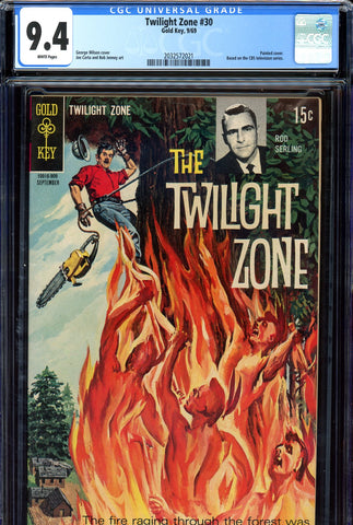 Twilight Zone #30 CGC graded 9.4  white pages