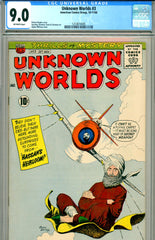 Unknown Worlds #03 CGC graded 9.0