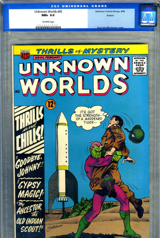 Unknown Worlds #45   CGC graded 9.6 - SOLD