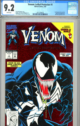 Venom: Lethal Protector #1 CGC graded 9.2 - first Venom in own title SOLD!