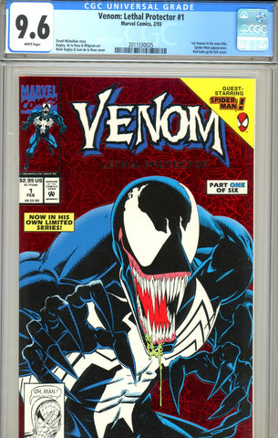 Venom: Lethal Protector #1 CGC graded 9.6 - first Venom in own title SOLD!