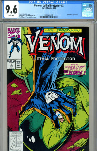 Venom: Lethal Protector #3 CGC graded 9.6 SOLD!
