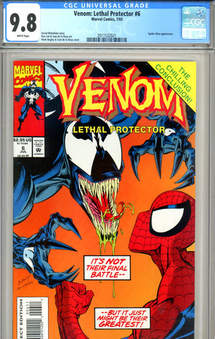 Venom: Lethal Protector #6 CGC graded 9.8 HIGHEST GRADED SOLD!