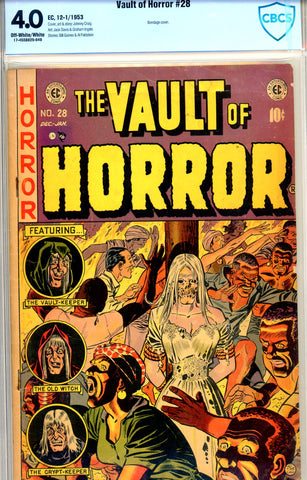 Vault of Horror #28 CBCS graded 4.0 - bondage cover SOLD!