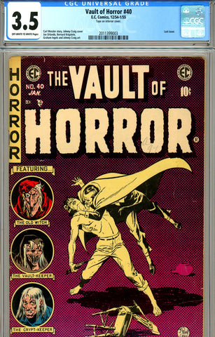 Vault of Horror #40 CGC graded 3.5 low distribution