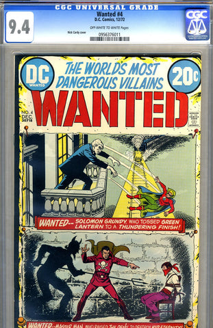 Wanted, the World's Most Dangerous Villains #4   CGC graded 9.4 SOLD!