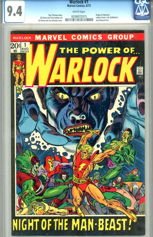 Warlock #01   CGC graded 9.4 - origin of Warlock - white pages - SOLD!