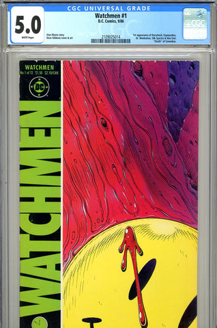 Watchmen #1 CGC graded 5.0 - first appearance of Watchmen SOLD!