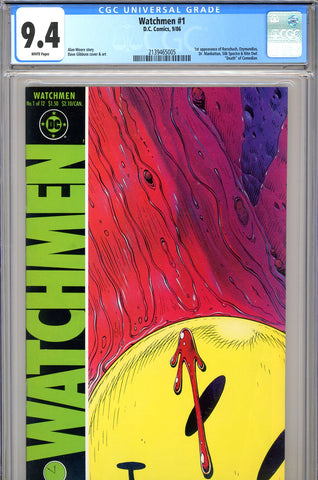Watchmen #1 CGC graded 9.4 - 1st appearance of Watchmen - SOLD!