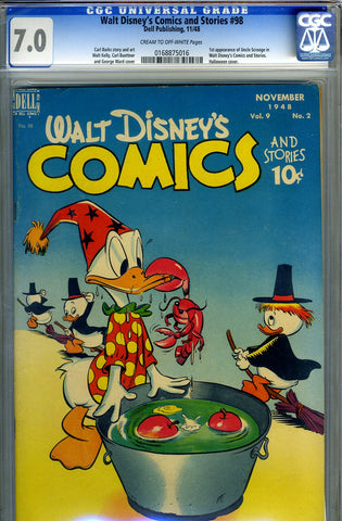 Walt Disney's Comics and Stories #098   CGC graded 7.0 - SOLD!