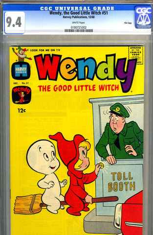 Wendy, the Good Little Witch #51   CGC graded 9.4 SOLD!