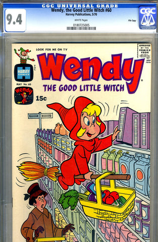Wendy, the Good Little Witch #60   CGC graded 9.4 - SOLD!