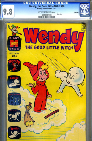 Wendy, the Good Little Witch #70   CGC graded 9.8 - HIGHEST - Giant Size - SOLD!